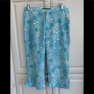 Beach Rays Floral Cropped Pants 7